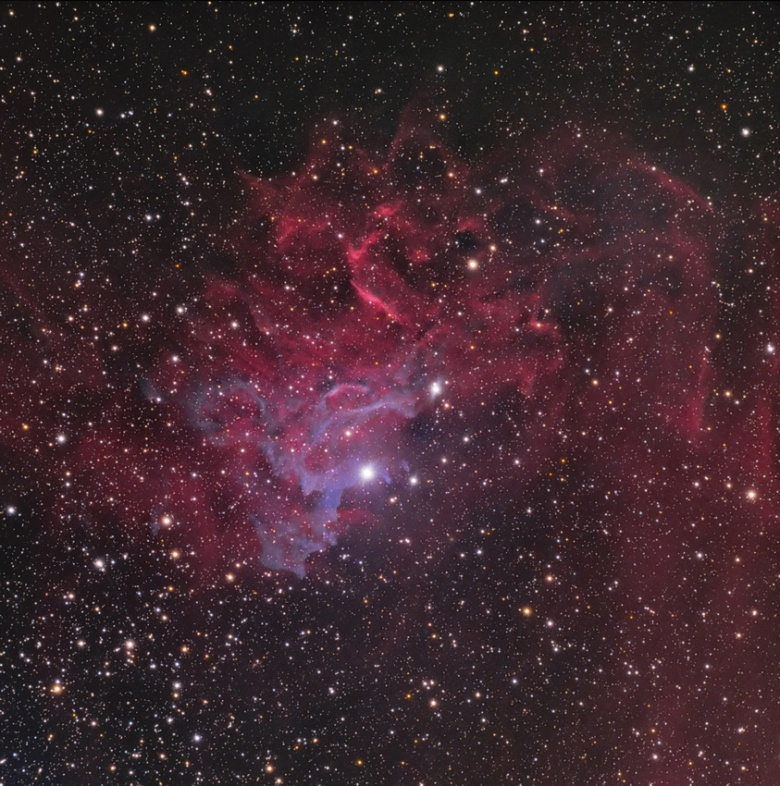 flaming star nebula,ae aurigae,auriga constellation,diffuse nebula